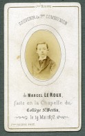 France St Omer Religion Image Pieuse Canivet Communion Photo Albumine Sur CDV Houppe 1872 - Images Religieuses