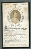 France Tourcoing Religion Image Pieuse Post Mortem Emilie Frasez Ancienne Photo Sur Papier 1880