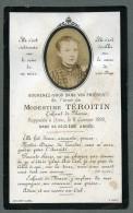France Religion Image Pieuse Canivet Post Mortem Modestine Teroitin Ancienne Photo Sur Papier 1892 - Devotion Images