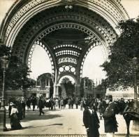 France Paris Exposition Universelle Porte Monumentale Ancienne Photo Stereoscope SIP 1900 - Stereoscopic