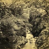 Royaume Uni Pays De Galles Bettws Y Coed Glen On Machno Ancienne Photo Stereoscope Bedford 1865 - Stereoscopic