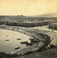 Royaume Uni Pays De Galles Llandudno Plage & Baie Ancienne Photo Stereoscope Bedford 1865 - Fotos Estereoscópicas