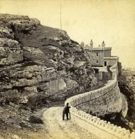 Royaume Uni Pays De Galles Llandudno Le Phare Ancienne Photo Stereoscope Bedford 1865 - Fotos Estereoscópicas