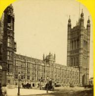 Royaume Uni Londres Maison Du Parlement Ancienne Photo Stereoscope York 1860 - Photos Stéréoscopiques
