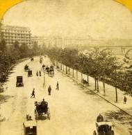 Royaume Uni Londres Charing Cross Ancienne Photo Stereoscope York 1860 - Stereoscopic