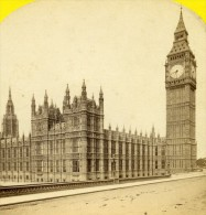 Royaume Uni Londres Maison Du Parlement Ancienne Photo Stereoscope York 1860 - Stereoscopic