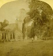 Royaume Uni Paysage Cumberland Abbaye Calder Ancienne Photo Stereoscope Ogle & Edge 1860 - Stereoscopic