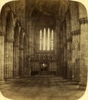 Royaume Uni Glasgow Cathedrale Interieur Ancienne Photo Stereoscope 1860