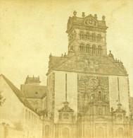 Allemagne Bords Du Rhin Prusse Treves Eglise St Mathias Ancienne Photo Stereoscope Bertrand 1860 - Photos Stéréoscopiques