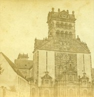 Allemagne Bords Du Rhin Prusse Treves Eglise St Mathias Ancienne Photo Stereoscope Bertrand 1860 - Stereoscopic