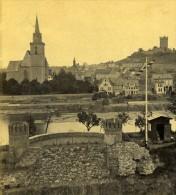 Allemagne Bingen Klopp Ancienne Photo Stereoscope Braun 1860 - Stereoscopic