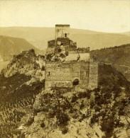 Allemagne Prusse Château De Liebenstein St Goar Ancienne Photo Stereoscope Radiguet 1860 - Stereoscopic