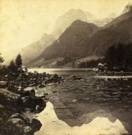 Allemagne Baviere Hintersee Mulhsturzhorn Paysage Ancienne Photo Stereoscope 1860 - Stereoscopic