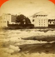 USA Canada Chutes Du Niagara Cataract House Ancienne Photo Stereoscope Curtis 1880 - Stereoscopic