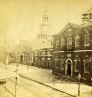 USA Philadelphie Independence Hall Ancienne Photo Stereoscope Cremer 1875 - Stereoscopic