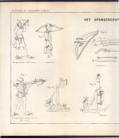 Het Spangeschut Arrows  Large Plate 39 X 24 Cm Around 1880 (246) - Prints & Engravings