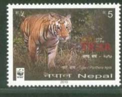 2010 NEPAL WWF ANIMAL FAUNA LION WILDLIFE MINT NEVER HINGED. - Prehistorics