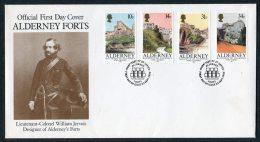 1986 Alderney Forts FDC - Alderney