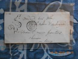 ZZ_31_ Lettre De Rennes De 1850 A Voir!!verso!! - 1849-1876: Période Classique