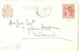 LPU9/B - VICTORIA - CARTE LETTRE DE JANVIER 1895 A DESTINATION DE MELBOURNE - 1850-1912 Victoria