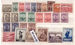 Bulgaria /Bulgarien 1920 COMPLETE - Jahrgang  Mi- Nr.135/150 + 135 U/41U Pair – MNH (Mi =117.- €) - Années Complètes