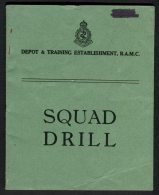 WW2 Depot & Training Establishment R.A.M.C. Squad Drill Booklet - Esercito Britannico