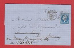 Plis  //   De Châlons Sur Saône  //  Pour Macon  // 30 Mars 1861 // - Postmark Collection (Covers)