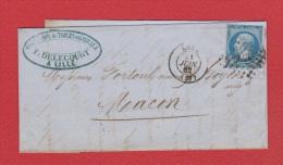 Lettre  //   De Lille //  Pour Macon  // 21 Juin 1862  // - 1849-1876: Période Classique