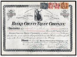 1912 Doylestown, Pennsylvania: Bucks County Trust Company - Bank & Insurance