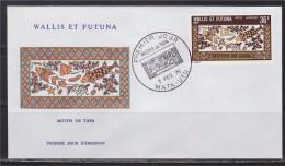 = Wallis Et Futuna Motifs De Tapa Enveloppe 1er Jour Mata Utu 3.2.75 PA 60 - FDC