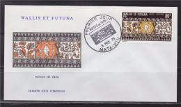 = Wallis Et Futuna Motifs De Tapa Enveloppe 1er Jour Mata Utu 3.2.75 PA 61 - FDC