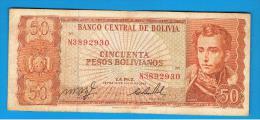 BOLIVIA - 50 Pesos Bolivianos 1962  P-162 - Bolivia