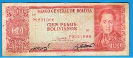 BOLIVIA - 100 Pesos Bolivianos 1962  P-163 - Bolivia