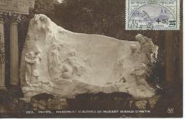 Orphelins De La Guerre YT N°166 Sur Carte Postale Monument D´Alfred De Musset RECP 15157 R - France