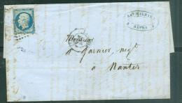 YVERT N°14 Sur Lac  DU HAVRE EN 1855  Af14902 - Postmark Collection (Covers)