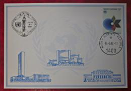 Vereinte Nationen UNO Wien 1982 Karte Enns - ONU