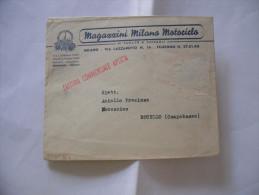CAMPOBASSO ROTELLO FATTURA BUSTA MAGAZZINI MILANO MOTOCICLO ANNI 50 - Italia