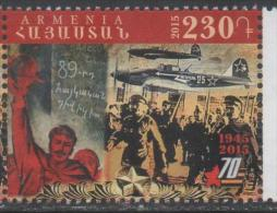 ARMENIA, 2015, MNH, WWII, PLANES, FIGHTERS, BLACK AND WHITE PHOTOS, 1v - WO2