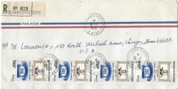 Cote D´Ivoire Ivory Coast 1978 Abidjan Cocody Telephone Communication Registered Cover - Ivoorkust (1960-...)