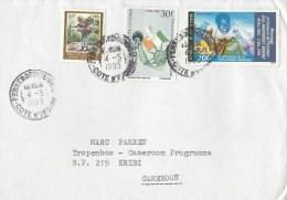 Cote D´Ivoire Ivory Coast 1995 Ferkessedougou President Flag Statue Of Liberty New York Pigeon Cover - Ivoorkust (1960-...)