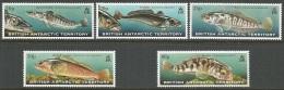 AAT  1999  Sc#275-9  Fish Set   MNH**   2016 Scott Value $22.90 - Unused Stamps