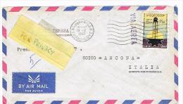 LIBIA (LIBYA) - STORIA POSTALE - 1967 LETTERA DA TRIPOLI PER L' ITALIA    -  RIF. 663 Bis - Libia