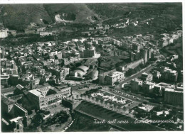 XXX CARTOLINA BIANCO E NERO - LAZIO – TIVOLI – VILLA D'ESTE – DALL'AEREO SCORCIO PANORAMICO VIAGGIATA 1964 VERSO ROMA – - Tivoli
