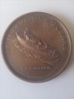 DÉCO :JACQUES YVES  COUSTEAU  (LE MONDE DES OCÉANS ) - Jetons & Médailles
