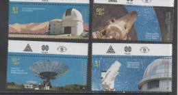ARGENTINA, 2009, MNH, SPACE, OBSERVATORY, TELESCOPES, 4v - Space