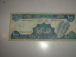 1000 Livres -etat Petite Déchirure - Liban