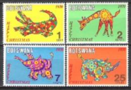 Botswana 1970 Religionen Christentum Feiertage Weihnachten Christmas Tiere Animals Krokodil Nashorn, Mi. 67-0 ** - Botswana (1966-...)
