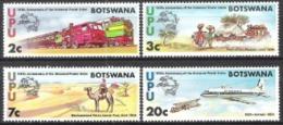 Botswana 1974 Postgeschichte Organisationen Weltpostverein UPU Eisenbahn Botenpost Postamt Flugzeuge, Mi. 110-3 ** - Botswana (1966-...)
