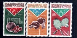 Haute Volta N° 143 / 45  XX Jeux Africains De Brazzaville,  Les 3 Valeurs Sans Charnière TB - Upper Volta (1958-1984)