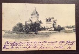 SUISSE - CASTELLO -CHATEAU DE VUFFLENS - VIAGGIATA A GENOVA  NEL 1899 - Other